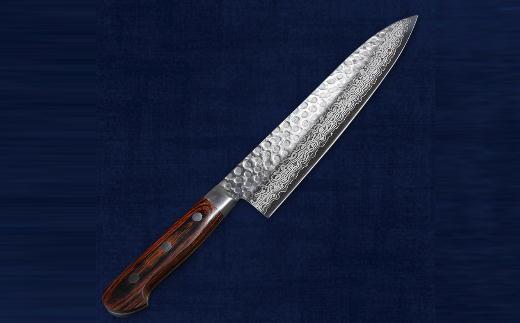 H30-13 関菊水作 ダマスカス牛刀
