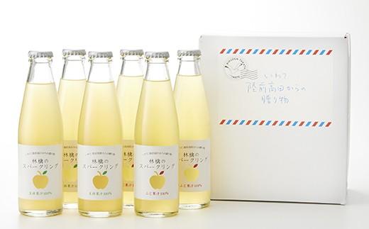 [果汁100%] 林檎のスパークリング(フジ・王林)6本セット