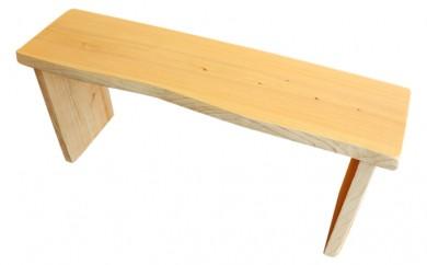 [№5878-0057]桧折りたたみベンチ(椅子)・桧まな板(小)セット