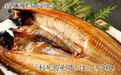 利尻島から 利尻漁業協同組合 「利尻島産開きほっけ5枚」