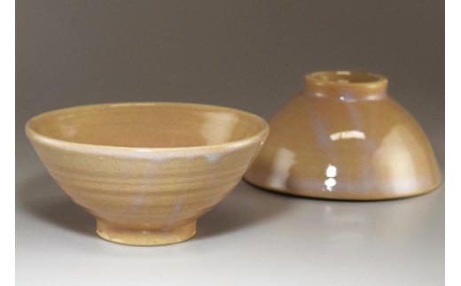 萩焼 ご飯茶碗 2客