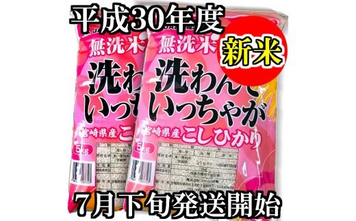 16-04押川商会【新米】無洗米宮崎こしひかり10kg