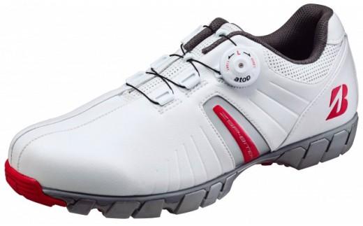 【30033】ブリヂストンゴルフシューズ SHG750【ホワイト・レッド】