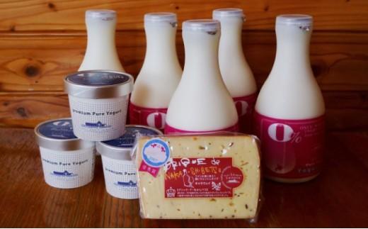 [№5889-0162]北海道  のむ&食べるヨーグルト・チーズセット