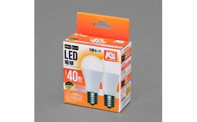 アイリスオーヤマ LED電球 40W形相当/E17口金【電球色】 2個セット LDA4L-G-E17-40W310-2P