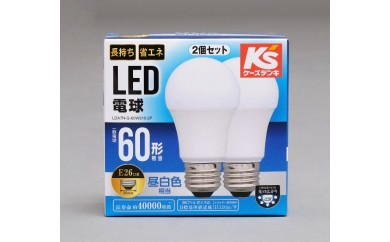 アイリスオーヤマ LED電球 60W形相当/E26口金【昼白色】2個セット LDA7N-G-60W310-2P