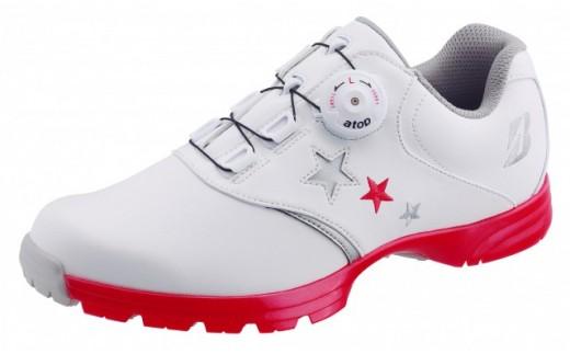 【30036】ゴルフシューズ SHG810【ホワイト・ピンク】:配送情報備考 サイズ 24.0cm