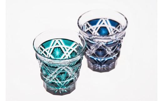 8I-03島津薩摩切子「冷酒グラス」