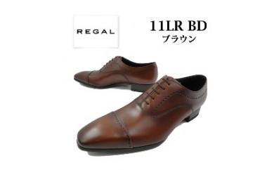 REGAL リーガル(ブラウン) メンズビジネス スタイリッシュな印象のストレートチップメダリオン 11LR(サイズ:24.5~27.0)【バリエーションBR76f-BR76k-V】