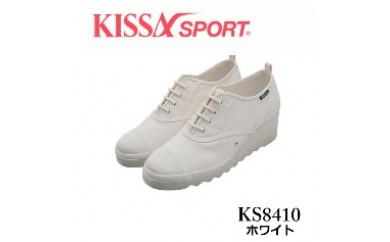 KISSA SPORT キサスポーツ(ホワイト) レディース ウェッジソール カジュアルスニーカー KS8410(サイズ:22.0~24.5)【バリエーションBR82a-BR82f-V】