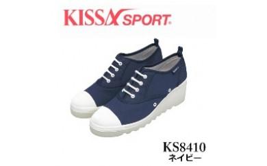 KISSA SPORT キサスポーツ(ネイビー) レディース ウェッジソール カジュアルスニーカー KS8410(サイズ:22.0~24.5)【バリエーションBR83a-BR83f-V】