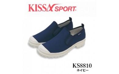 KISSA SPORT キサスポーツ(ネイビー) レディース スリッポン KS8810(サイズ:22.0~24.5)【バリエーションBR86a-BR86f-V】