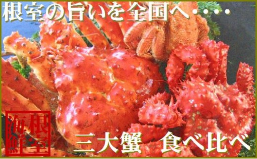 CD-19004 「本タラバガニ・花咲ガニ・毛ガニ」三大ガニ(計3kg)セット