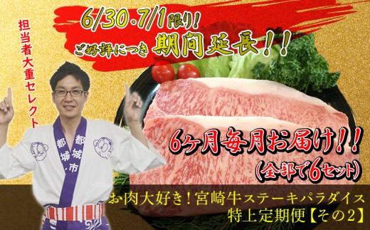 T50-MY02_担当者「大重セレクト!」お肉大好き!宮崎牛ステーキパラダイス特上定期便その2