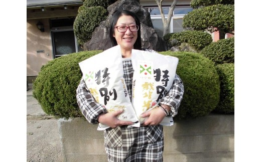 090 小野寺農園のつや姫定期便(5kg×2袋)12回分