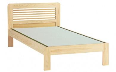 [№5735-0332]セブンベッド ヒノキ無垢無塗装ベッド タタミタイプ