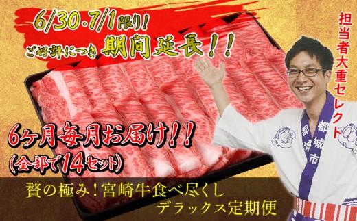 T100-MY08_担当者「大重セレクト!」贅の極み!宮崎牛食べ尽くしデラックス定期便