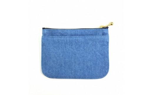 ミニ財布(デニム淡色)