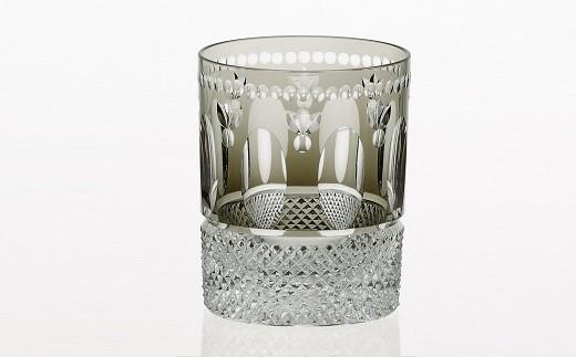 H-1308 カガミクリスタル社製 伝統工芸士作「江戸切子 ロックグラス<レトロ>」