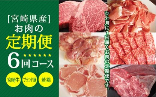 E-45 6ヵ月コース<宮崎牛ステーキ、ブランド豚&若鶏普段使いセット、宮崎牛焼肉、ブランド豚ステーキ、煮込みセット>定期便【45,000pt】