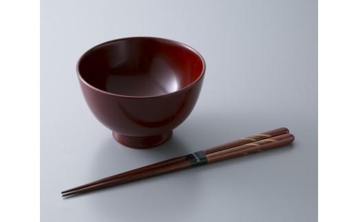 D7 若狭塗箸「貝・螺鈿 月時雨」・つぼみ型汁椀[髙島屋選定品]