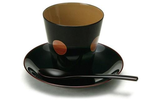【9P】コーヒーが一層美味しく『越前漆器 椀椀コーヒーカップセット1組』 [B00902]