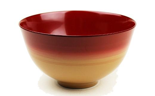【3P】伝統工芸品★伝統の洗練された美しさ『越前漆器 美味しい椀  かすみ 1客』 内朱 [B00309b]