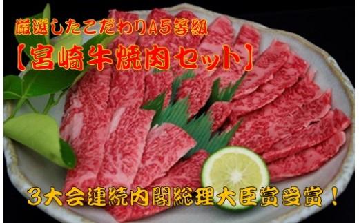 800g!【宮崎牛焼肉セット】厳選したこだわりA5等級 G-5