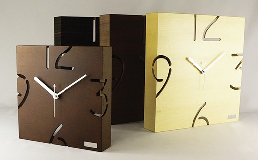 【12P】漆器木地屋さんが作る木工品『木製壁掛け時計』 [G01203]