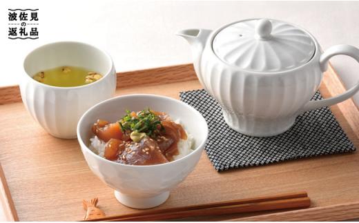 BB05 【波佐見焼】白磁手彫 お茶碗・カップ ペアセット【一真窯】