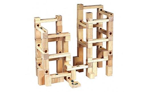 【12P】木のおもちゃ『ビー玉 積み木転がし100』 [G01205]