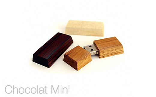 【3P】越前漆器職人が作る『Hacoa 木製USBメモリー(ショコラミニ)1個』 [G00302]