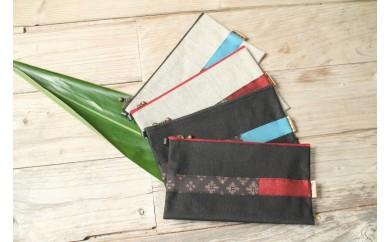 布フェチが作る紬の通帳ケース(黒)