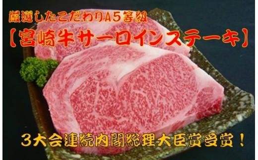 260g×2枚!【宮崎牛サーロインステーキ】厳選したこだわりA5等級 G-3