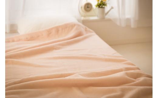 綿100%綿毛布シングルサイズ・ベージュ色