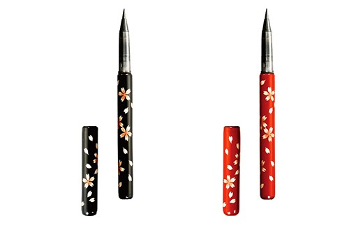 【12P】伝統の技が光る『越前塗 蒔絵筆ペン〈天然竹〉』 [B01202]