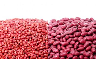 [№5642-0217]北海道十勝足寄 29年度 党崎農場の小豆と大正金時セット計3kg