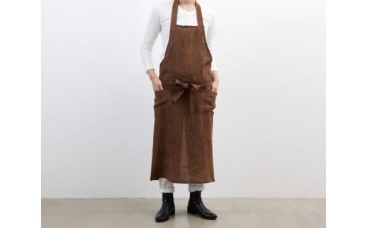 No.104 柿渋染エプロン(IJIRAOOMI TABLE) 茶色