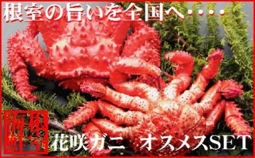 CC-19005 【北海道根室産】花咲ガニ(オスメス)食べ比べ2~3尾(計2kg)