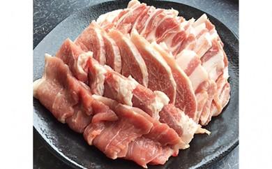 [№5541-0008]阿波市産豚肉焼肉セット 約900g(豚バラ450g、豚赤身450g