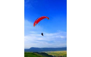 阿蘇外輪山(450m)からパラグライダー2人乗り操縦体験【大観峰茶店復興支援券付】