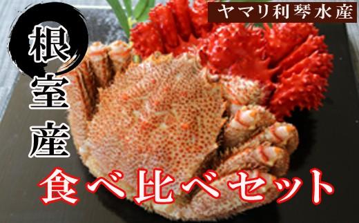 CC-34004 【北海道根室産】花咲ガニ500~650g前後×1尾・毛ガニ600~750g前後×1尾