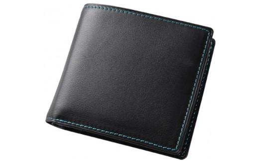 SOMES FE-02 2つ折財布(ブラック)