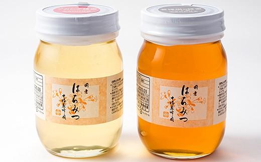 [Y042]十勝養蜂園 国産はちみつアカシア・シナ<500g×2本>