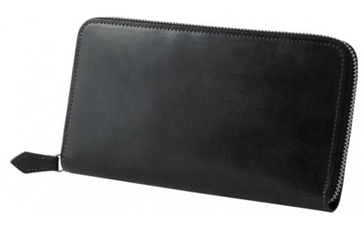 SOMES GB-11 ラウンドファスナー財布(ブラック)