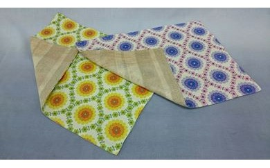 【区外在住の方限定】『 手織り de ほっこり 』 ランチョンマット・2枚BOX入り (花)