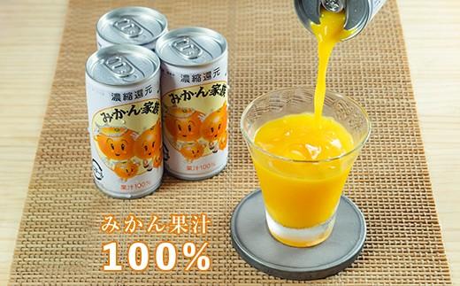 [№5852-0143]果汁100%みかん家族 2ケースセット