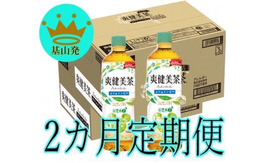 B-066 【2カ月定期便】爽健美茶600mlPET(2ケース×2回)