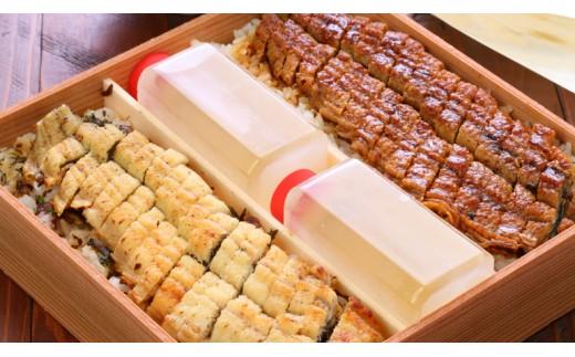 【うなぎ】源平まぶし(二人折) 蒲焼と白焼のひつまぶしの合わせ盛り
