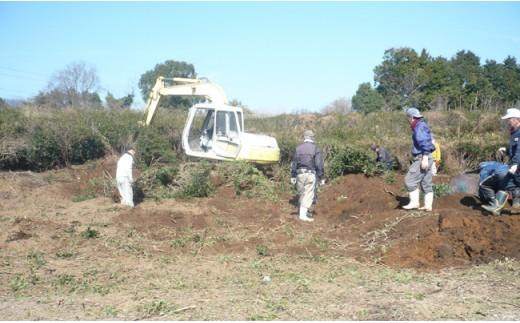 イノシシ被害の元となる荒れ地・耕作放棄地を開墾し、そば畑を作りました